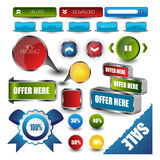 Webdesignschablonen-Navigationselemente: Navigationsknöpfe mit Verzierungen Lizenzfreie Stockfotos