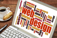 Webdesignwortwolke Stockfotos