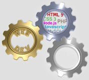 Webdev PHP HTML SQL CSS Gears Royalty Free Stock Photography