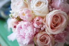 WeBeautiful wedding bouquetdding bouquet. Beautiful wedding bouquet from white and pink flowers Stock Photos