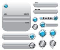 Webelementen geplaatst pictogram Stock Afbeelding