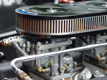 Weber carburetor. On a classic car Royalty Free Stock Image