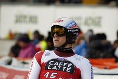WEBER Ralph in FIS Alpien Ski World Cup - super-g van 3de MENSEN Stock Afbeelding