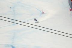 WEBER Ralph i FIS alpina Ski World Cup - 3rd MÄNS SUPER-G Royaltyfri Fotografi