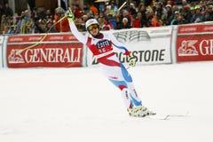 WEBER Ralph i FIS alpina Ski World Cup - 3rd MÄNS SUPER-G Arkivbild