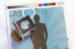 Weberglas, lente, lente, stampa, colore, LPI, separazione, fotografia stock