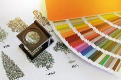 Weberglas, lente, lente, stampa, colore, LPI, separazione, fotografia stock libera da diritti
