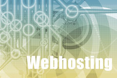 Webhosting Abstract Stock Photo