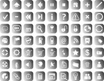 Webicons. Set of 80 web icons Stock Photo