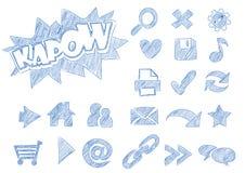 Webicons abbozzati illustrazione di stock