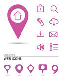 Webicons with pointers Stock Photos