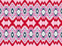 WebIkat folkloru geometryczny ornament Plemienna etniczna wektorowa tekstura Bezszwowy pasiasty wzór w azteka stylu ilustracji