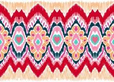 WebIkat folkloru geometryczny ornament Plemienna etniczna wektorowa tekstura Bezszwowy pasiasty wzór w azteka stylu royalty ilustracja