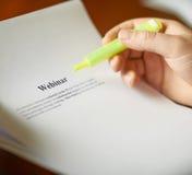 Webinar定义构成 库存照片