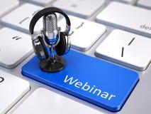 Webinar,网上教育和训练概念 免版税库存图片
