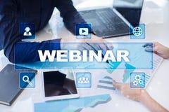 Webinar 电子教学,网上教育概念 私有的发展 库存图片