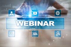 Webinar 电子教学,网上教育概念 私有的发展 图库摄影