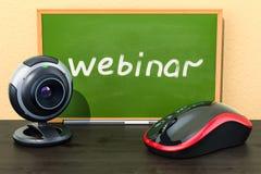 Webinar-Bildungskonzept 3d Stockfoto