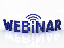 Webinar of the blue cubes Stock Photos