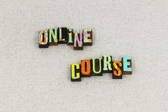 Webinar boktryck för online-kursutbildning royaltyfri foto