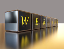 Webinar on box Stock Images
