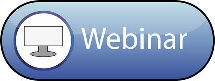 Webinar button Stock Images