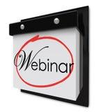 Webinar Calendar Day Date Reminder Online Seminar Learning Session stock illustration