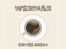 Webinar coffee break, vector Stock Photography