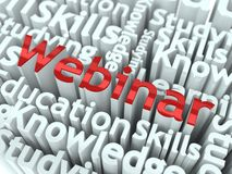 Webinar concept Royalty Free Stock Photo