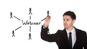 Webinar concept on blackboard Stock Photo