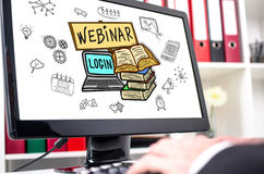 Webinar concept on a computer screen Stock Images