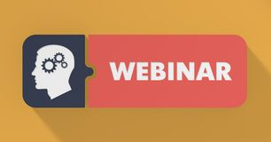 Webinar Concept in Flat Design. Stock Images