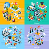 Webinar Concept Icons Set Royalty Free Stock Photos