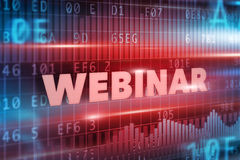Webinar concept royalty free stock images