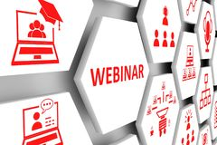 WEBINAR concept Royalty Free Stock Image
