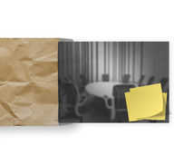 Webinar with crumpled paper background Stock Photography