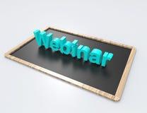 Webinar 3d słowa pojęcie z chalkboard Ilustracja Wektor
