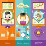 Webinar, Distance Education and Improving Skills Stock Photo