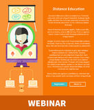 Webinar, Distance Education and Learning Concept Royalty Free Stock Photography