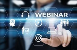 Webinar E-learning Training Business Internet Technology Concept stock images