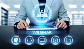 Webinar E-learning Training Business Internet Technology Concept Royalty Free Stock Images