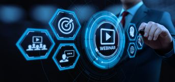 Webinar E-learning Training Business Internet Technology Concept.  royalty free stock images
