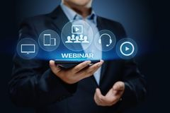 Webinar E-learning Training Business Internet Technology Concept.  Stock Images
