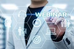 Webinar E-learning Training Business Internet Technology Concept.  Royalty Free Stock Photography