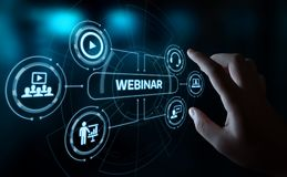 Webinar E-learning Training Business Internet Technology Concept.  Stock Photography