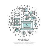 Webinar et vidéo Live Stream de présentation Photos libres de droits