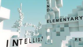 Webinar exprime animado com cubos ilustração do vetor