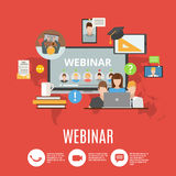 Webinar Flat Design Concept Royalty Free Stock Images