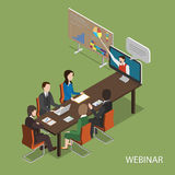 Webinar Flat Isometric Vector Concept. Royalty Free Stock Photo