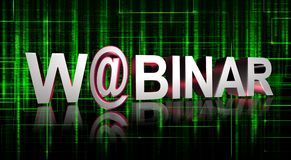 Webinar graphics Royalty Free Stock Images